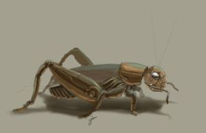 Cricket mech (for daily spitpaint) by YairMor