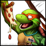 Michelangelo - Mutant Days by FuShark