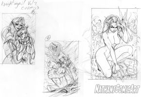 Knightingail Vol 2 COVER #003 Layouts DA by nathanscomicart