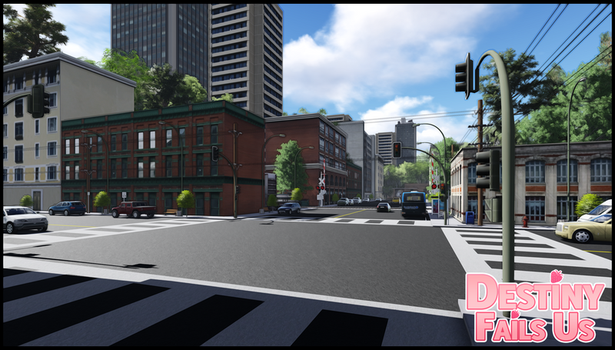 [DFU VN] WIP Background Preview   Downtown by DestinyFailsUs