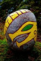 How to carve a rune stone, The finished stone 3 by chricko