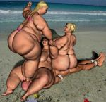 Facesitting - BBW - At the beach 05 by teejott71