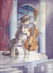 While My Cello Gently Weeps by The-Wizard-of-Art