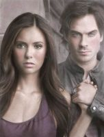 Elena+Damon - Vampire diaries by Eileen9