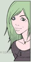 Green haired girl by mad-smile