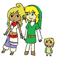 Tetra Link and Finn by Linkerbell