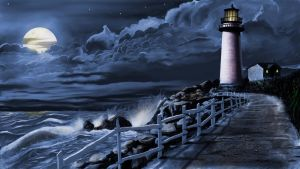 Lighthouse(night time) by brentdgrooms