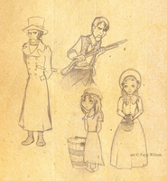 Les Mis sketches by Violet--Gypsy