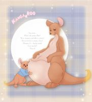 Kanga Pregnant Colored by leovictor