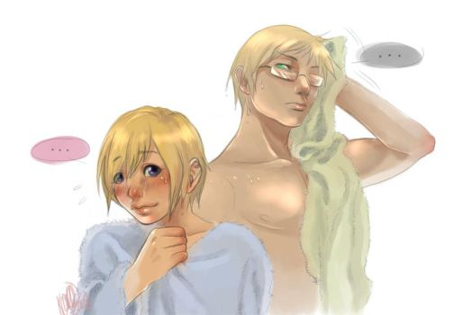 +Hetalia+Finland and Sweden :3 by korone