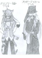 Cheshire Cat Grell, Undertaker Grell by Rhoda-the-Echidna