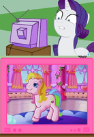 Rarity G4 meets Rarity of G3 by MaddieHatter3337