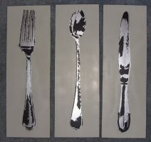 Fork Spoon and Knife Set by BastianWolf
