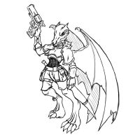 Gunslinger kobold half dragon by N647