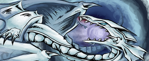 Blue eyes white dragon by Fluffysminion