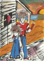 Seiya and his son by charrytaker