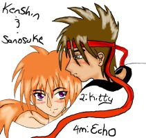 Kenshin-Sanosuke for Kitty by DraculaAzuri