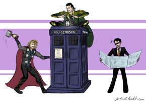 The Avengers Vs. The Blue Box by jeni-stark