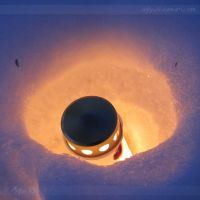 Candle in Snow by aigha