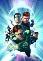 Green Lantern cover by Rennee