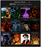 Art Summary of 2016 by Aileen-Rose