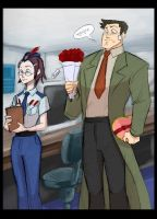 PW: Gumshoe and Maggey by Crispy-Gypsy