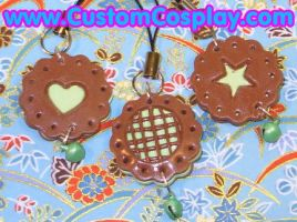 Mint cookie phone charms by The-Cute-Storm