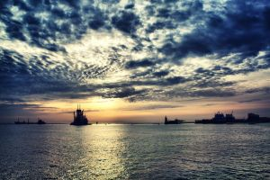 Sunrise Over Port Said by caie143