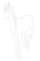 Free horsey lineart by Yipped
