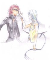 riku and axel by Zairal