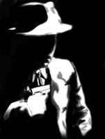 Cole Phelps, Black and White by Sabellion