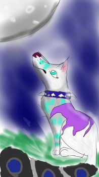 howling arctic wolf  by skythewingedcat