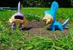 Mudkip Uses Watergun by KingHyren