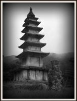 Pagoda Statue by spidermonkeykiss