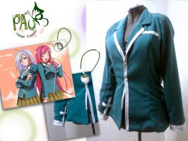 rosario + vampire cosplay uniform by nyumexico