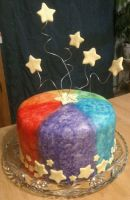 Rainbow Star Cake by theshaggyturtle
