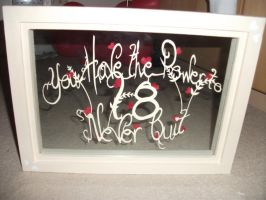 You have the power to never quit papercut framed by matstar102