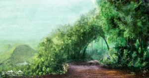 Forest path - speedpaint by Syntetyc