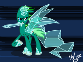 Request - Brush, a Bankai Daiguren Hyorinmaru pony by LeenyMesk