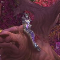 Draenei sitting in Bear Tree by DiosaWoW