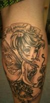 Punk Tinkerbell tattoo by Malitia-tattoo89