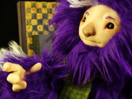 Aarly the friendly purple monster by mammalfeathers