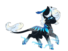 Mystery Adopt - Black Ice by FuyusFox