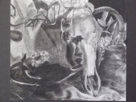 Charcoal Skull 1 by RosalineElric