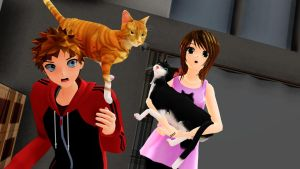 .:CAT$!:. [MMD x Life!] by LoverCathy