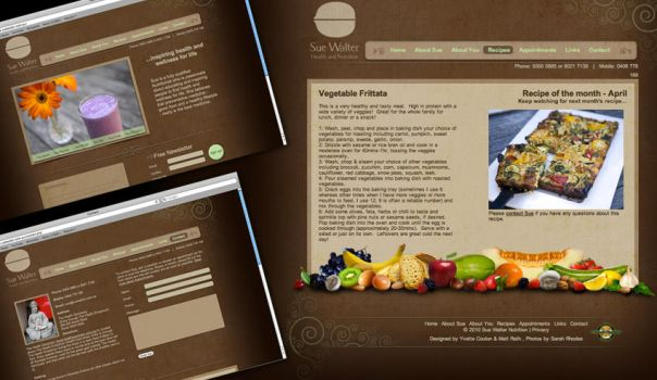 Health and nutrition website by YvetteAlice