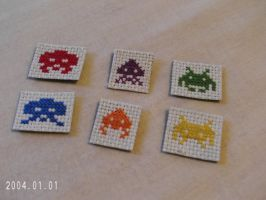 Space Invaders Magnets by agorby00