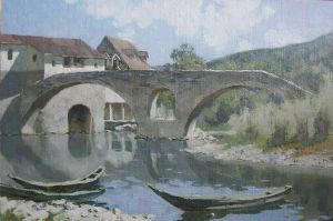 The river of Crnojevic by Daniil-Belov-artist