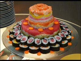 4 Layer Sushi Cake by Bap2s