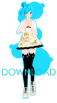 Cute Hipster-style Miku - DOWNLOAD by Ikaneon